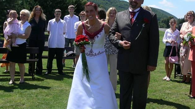 Svatba na ranči.