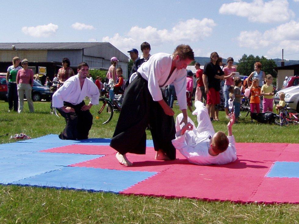 Lidé obdivovali umění karate.