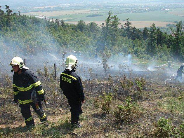 K rozsáhlým požárům řadí pondělní zásah, ke kterému vyjížděli v Uhřínově na Hranicku, kde hořel les o rozloze půl hektaru.