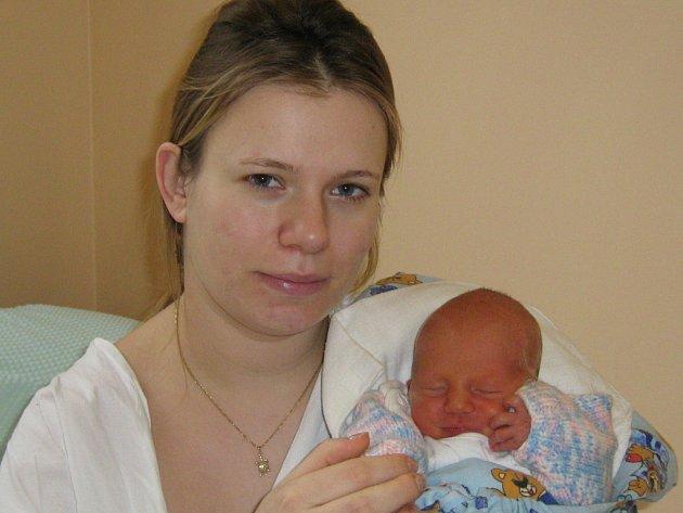 Jakub Martínek narozen 18. 1. 2008 v Olomouci, váha 2740 g, Drahotuše
