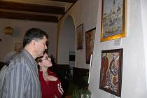 Výstava obrazů a dřevořezeb výtvarníka Miroslava Hanzelky