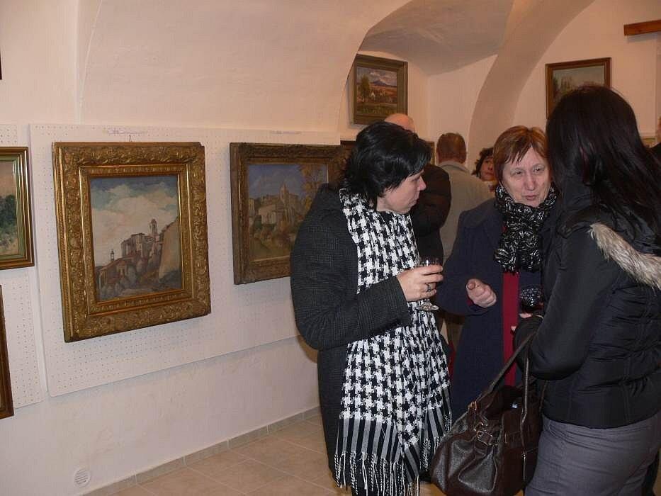 Výstava s názvem Hrady a zříceniny v galerii Gustava Matušky