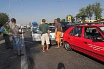 Nehoda zbrzdila provoz na hlavním silničním tahu z Olomouce do Ostravy.