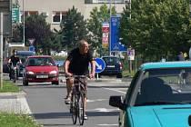 Cyklisté v Hranicích