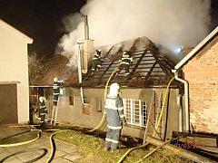 Požár domu v Opatovicích