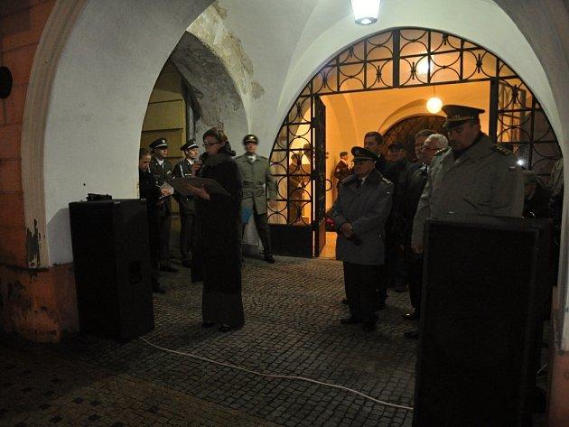 Před Starou radnicí proběhlo kladení věnců k pomníku T.G. Masaryka