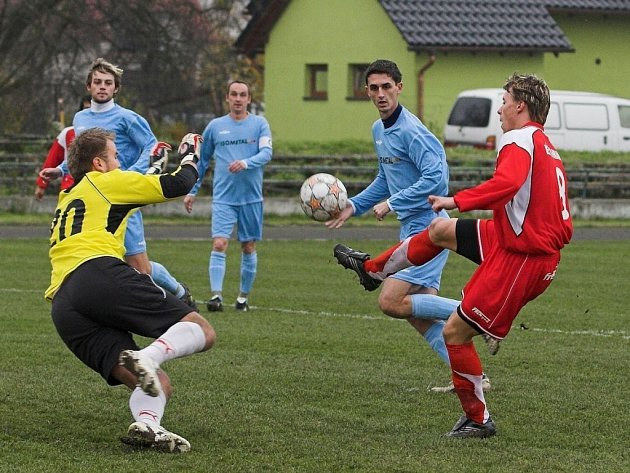 Jan Dohnal je na jaře jediný střelec divizního Sportovního klubu Hranice.
