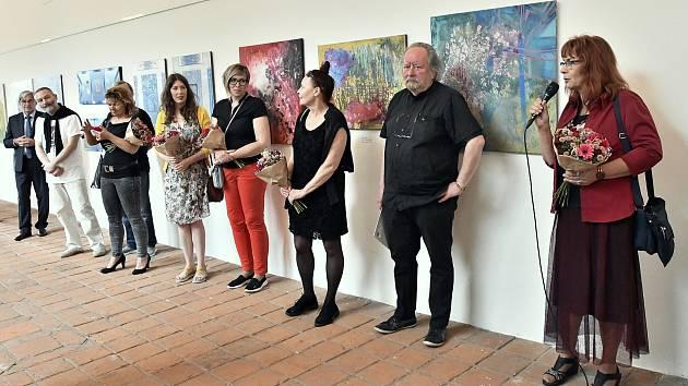 Slavnostní vernisáž výstavy Hraniceum 2020 ve čtvrtek 9. července v Galerii severní křídlo zámku v Hranicích.