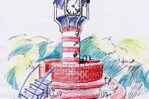 Dominantním prvkem nového parčíku budou hodiny ve tvaru majáku.