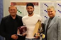 Hráč Club Tennis Hranice Radovan Chrobák skončil bronzový na amatérském MČR. V kategorii 45+ zvítězil. Foto: archiv oddílu