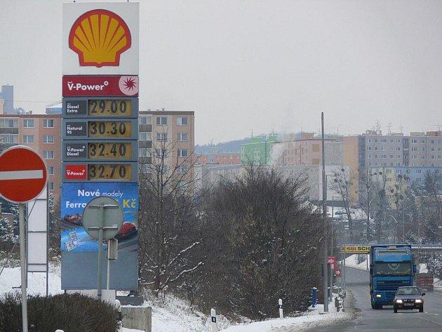 Na nejdražší benzín Natural 95 narazil Deník 5. ledna při průzkumu v Přerově a Hranicích na silnici I/47 v Hranicích, v sousedství areálu bývalého Philipsu.