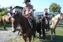 V jízdě na koni soutěžilo v Drahotuších celkem čtrnáct jezdců.