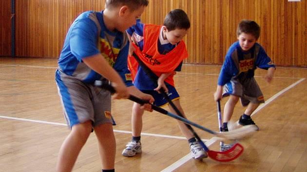 K odvetnému přátelskému utkání přijeli v sobotu 28. března do Hranic mladí florbalisté z Domu dětí a mládeže v Kojetíně.