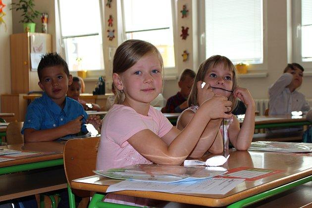 Prvňáčci v Základní škole 1. máje v Hranicích