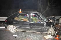 Nehoda na silnici ve směru od Černotína na Hranice