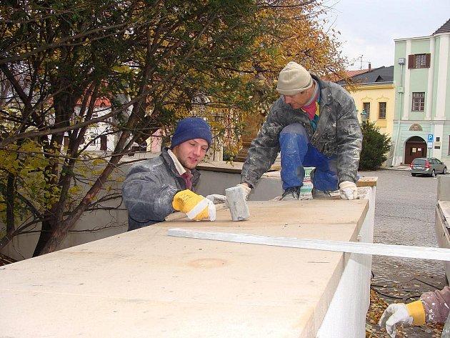 Oprava ohradní zdi u Přerovského zámku