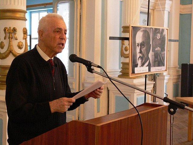 Na T. G. Masaryka zavzpomínal místopředseda Vojenského sdružení rehabilitovaných Karol Loučka