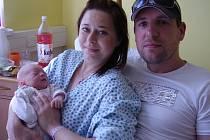 Melissa Bortlová, Troubky, narozena 14. června 2009 v Přerově, míra 50 cm, váha 3 290 g