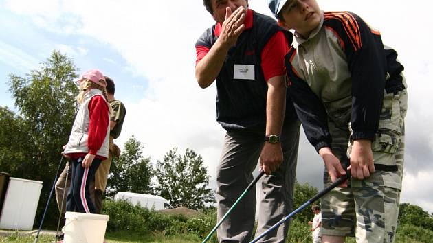 Den otevřených dveří na golfovém hřišti v Radíkově přilákal desítky lidí.