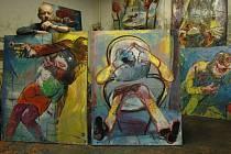 Uherskohradišťský malíř Tomáš Měštánek představí svá díla v hranické Synagoze.