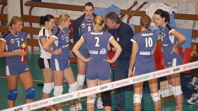 Přerovské volejbalistky selhaly v Praze proti Olympu především v útočné fázi.
