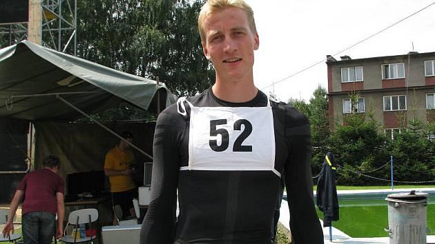 S časem 13,62 sekund Hranickou věž vyhrál pětadvacetiletý Jakub Pěkný z Ostravy
