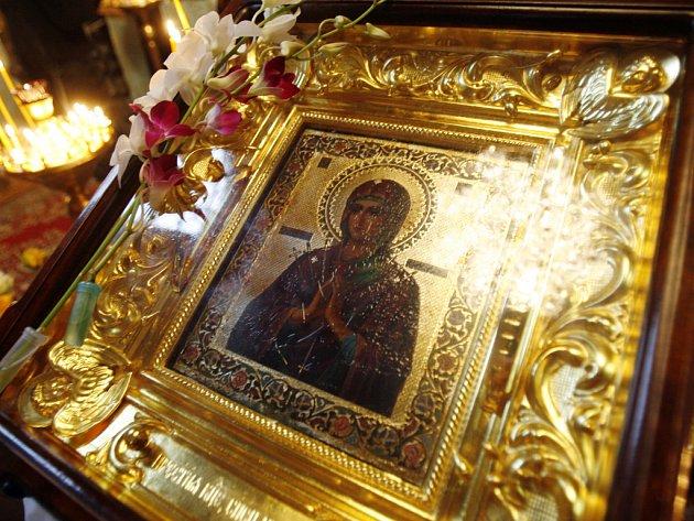 Zázračná ikona Obměkčení kamenných srdcí.