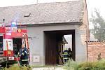 Požár stodoly v Brodku u Přerova