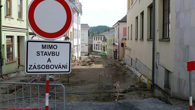S ukončením prací ve Svatoplukově ulici skončí také poslední část revitalizace historického centra v Hranicích.