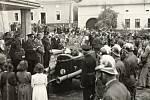 Dne 3.září 1950 byla v Radotíně posvěcena při okrskovém sjezdu požárníků první motorová stříkačka pro místní sbor za hojné účasti všech občanů. Ta je dodnes k vidění ve funkčním stavu při různých příležitostech.