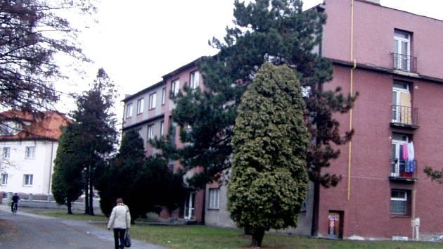 Ubytovna ve Vrchlického ulici v Hranicích.