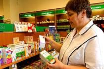 V Zelené lékárně v Hranicích je samoobslužný prodej.