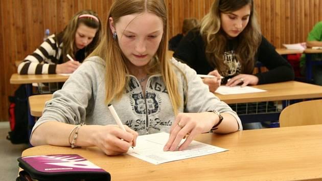Žáci základní škol absolvovali přijímací zkoušky na svou vybranou střední školu.