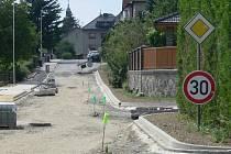 Opravy Skalní ulice v Hranicích