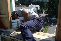 První ročník soutěže ve výstupu na cvičnou věž