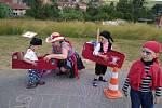Dětský pirátský den v Partutovicích.