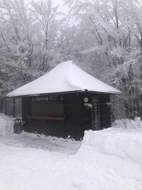 Zimní pohádka 16. dubna na Pustevnách.