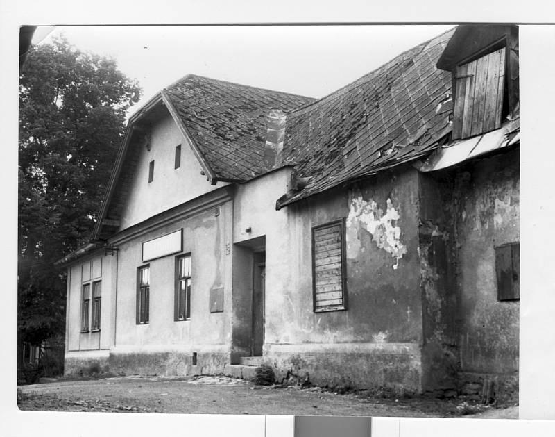 Stará hospoda v Ústí v roce 1971.