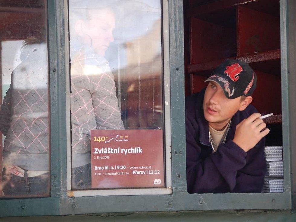 Parní lokomotva Šlechtična na přerovském nádraží