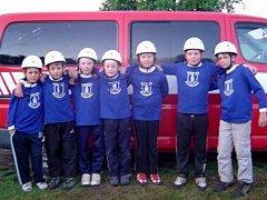 Nejmladší členové sboru při soutěži v požárním sportu.