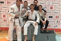 Reprezentanti Železa Hranice na judistickém Mistrovství České republiky uzmuli tři medaile.