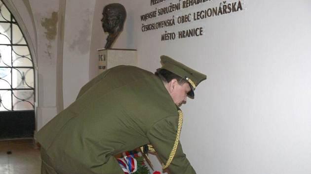 V Hranicích se poklonili prezidentu Masarykovi