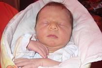 Tomáš Šrámek, Hranice, narozen 23. února ve Valašském Meziříčí, míra 50 cm, váha 3,50 kg