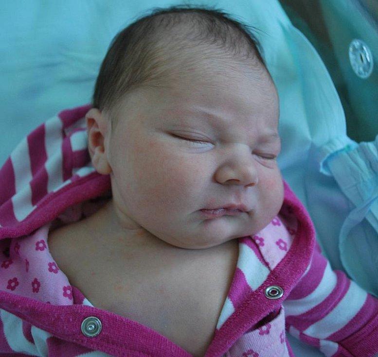 Agáta Dvořáčková, Osek nad Bečvou, narozena 24. května 2011 v Přerově, míra 54 cm, váha 4 050 g