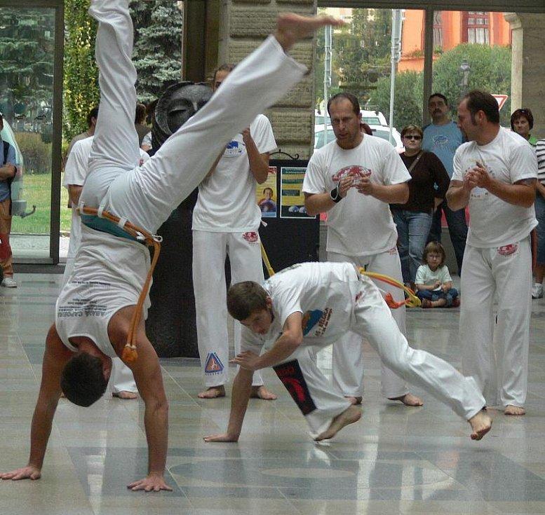 V doprovodném programu vystoupila skupina Abada Capuiera s ukázkou bojových tanců.