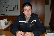 Velitel profesionálních hranických hasičů Tomáš Novák