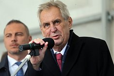 Návštěva prezidenta v obci Luboměř pod Strážnou