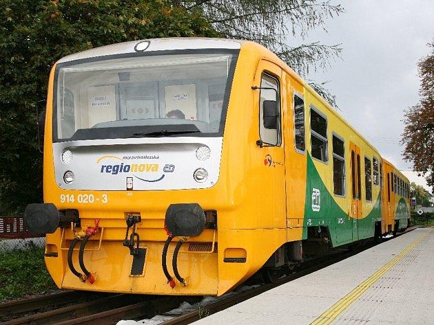 Od poloviny prosince vyjedou poprvé na trati mezi Valašským Meziříčím a Kojetínem modernizované vlaky Regionova.