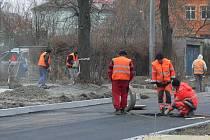 Oprava Studenstské ulice v Hranicích