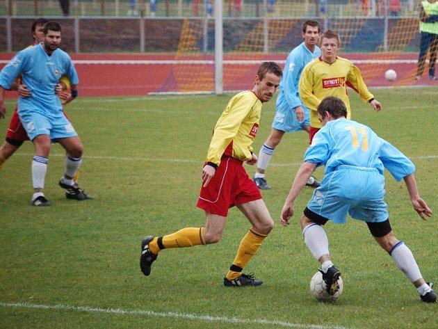 Fotbalisté 1. FC Přerov se ve třináctém kole krajského přeboru střetli doma s Kozlovicemi a připsali si plný počet bodů za vítězství 3:2.
